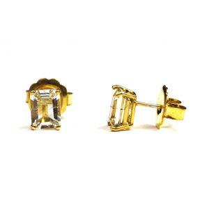 Clear Quartz Serena Stud Earrings-0