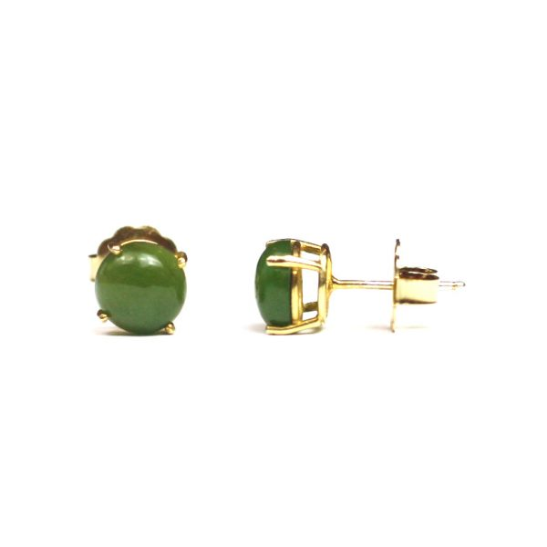 Green Jade Serena Stud Earrings-0