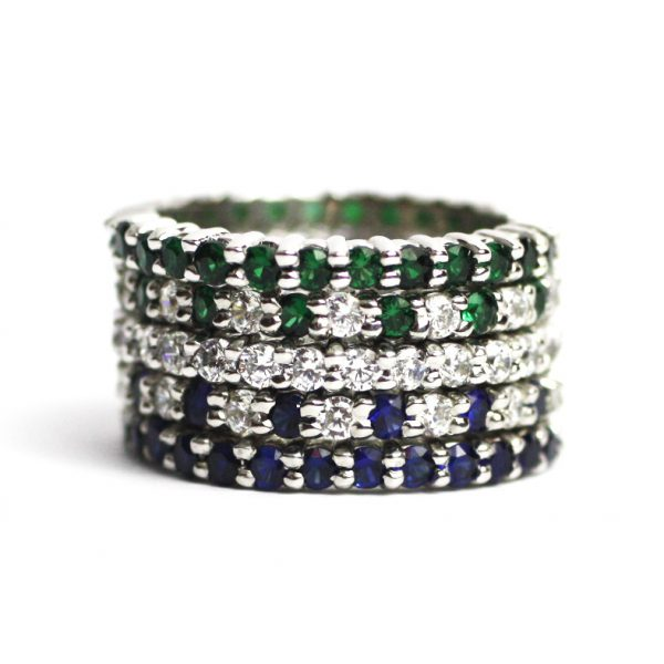 Solitaire Stack Rings-3386