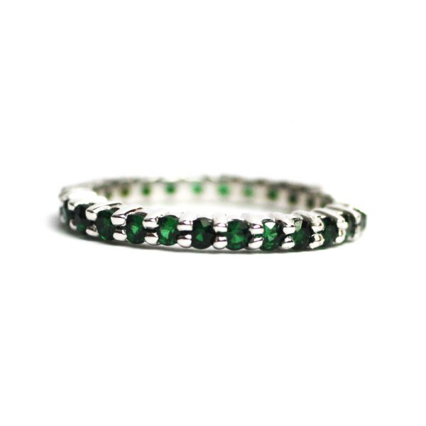 Solitaire Stack Rings-3384