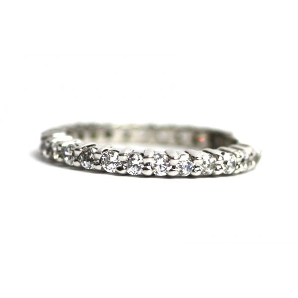 Solitaire Stack Rings-3383