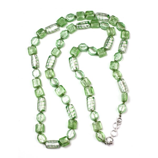 Mint Glass Bead Necklace-0