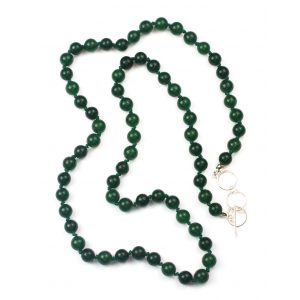 Long Green Jade Necklace-0