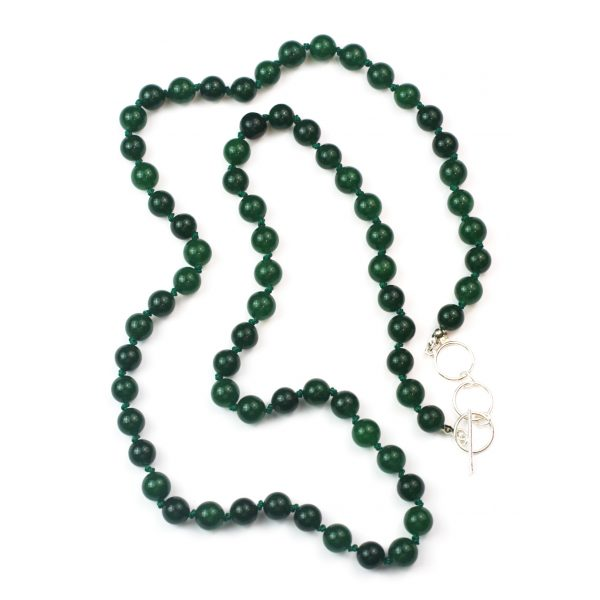 Long Green Jade Necklace-0