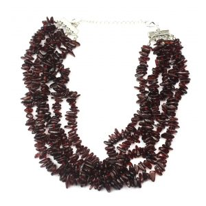 5 Strand Garnet Necklace-0