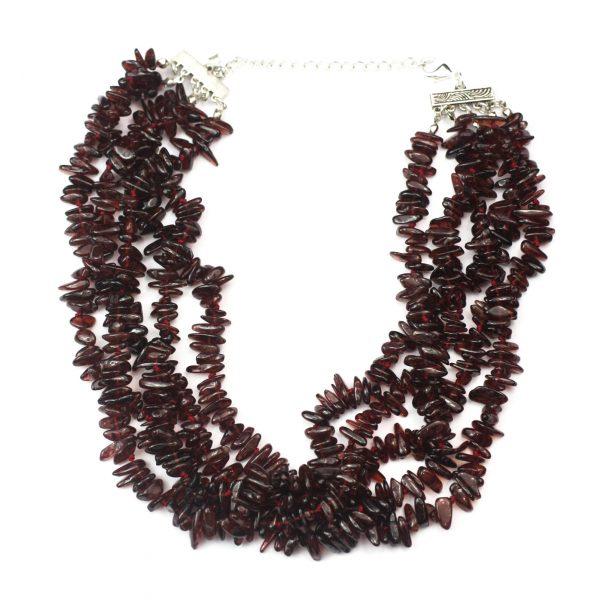 5 Strand Garnet Necklace-0
