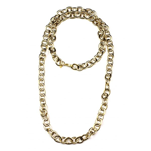 Extra Long Petite Link Necklace-3579