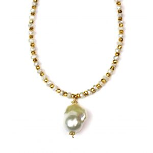 Baroque Pearl Pendant Necklace-0