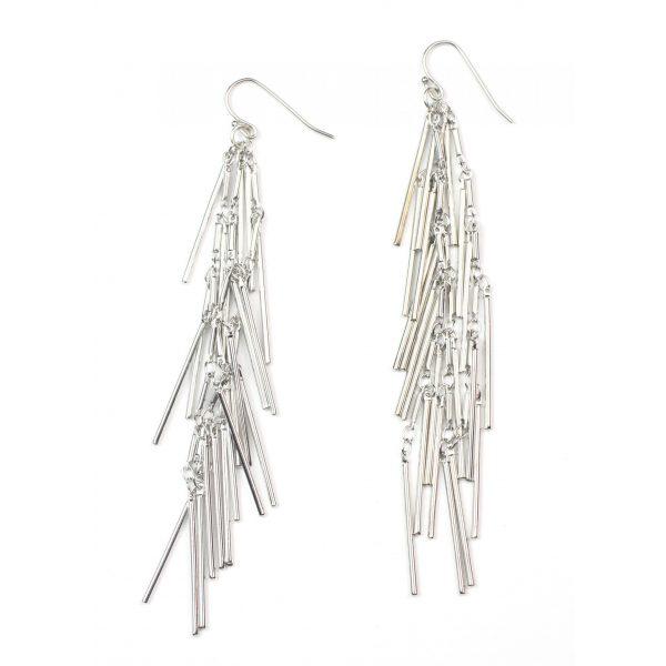 Triple Spike Chain Earrings-3606