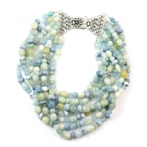 Blue Beryl Statement Necklace-0