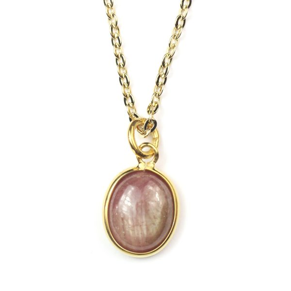 Dark Rose Sapphire Necklace-0