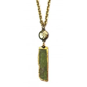 Green Kyanite Necklace-0