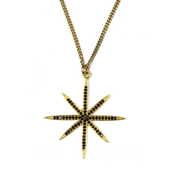 Large Snowflake Pendant Necklace-0