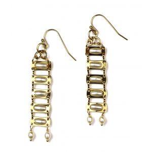 Pearl Chain Earrings-0