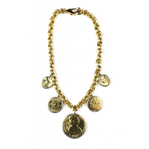 Coin Charm Necklace-0