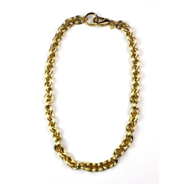 Brushed Chain Necklace-0