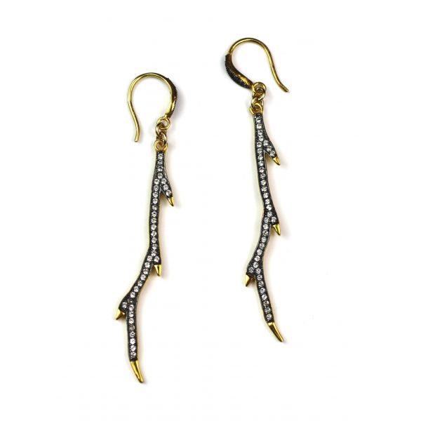 CZ Branch Earrings-0