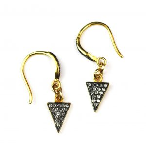 CZ Triangle Earrings-0