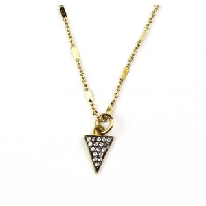 CZ Triangle Necklace-0