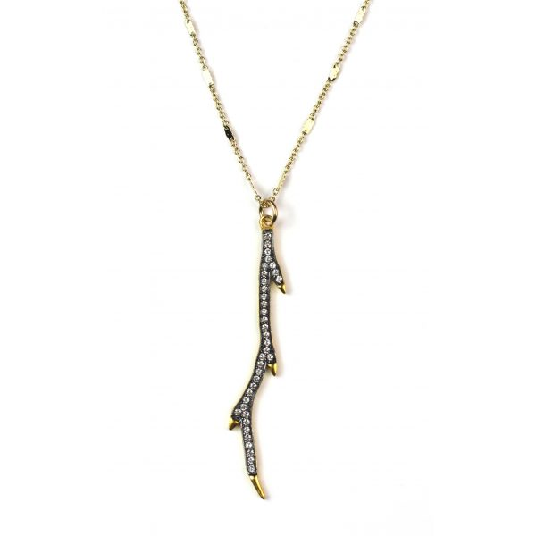 CZ Branch Necklace-0