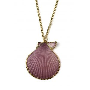 "28"" Lavender Shell Necklace-0"