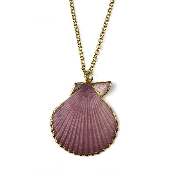 """28"""" Lavender Shell Necklace-0"""