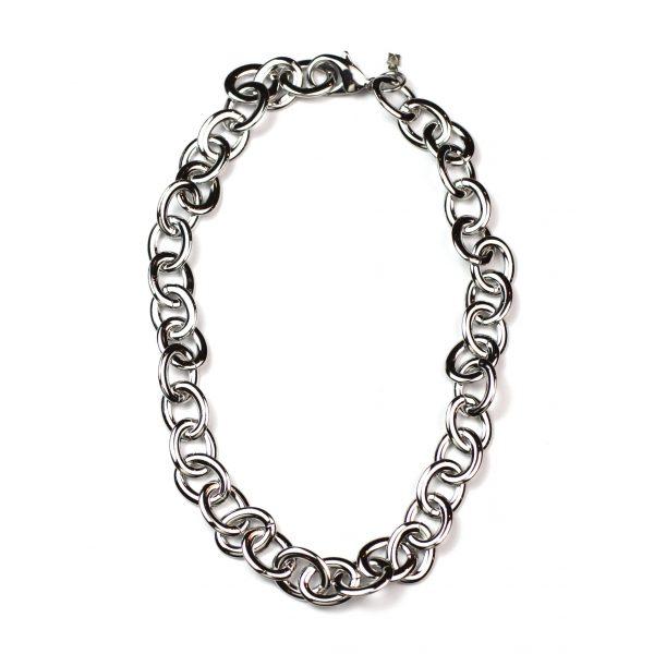 Short Petite Link Chain Necklace-3995