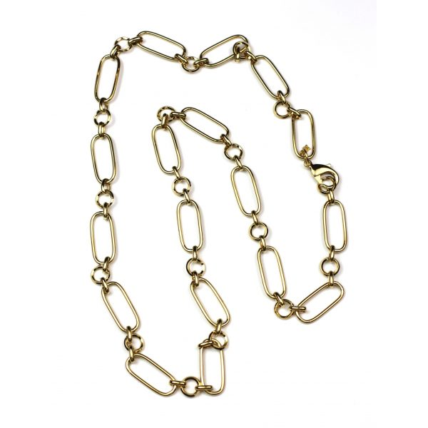 Long Safety Pin Necklace-3991