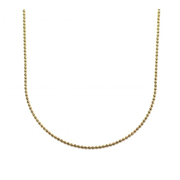 Simple Delicate Ball Chain Necklace-0