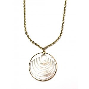Circle Mother of Pearl Pendant-0