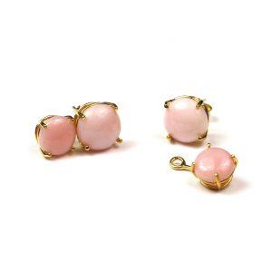 Versatile Pink Serena Stud Earrings-0