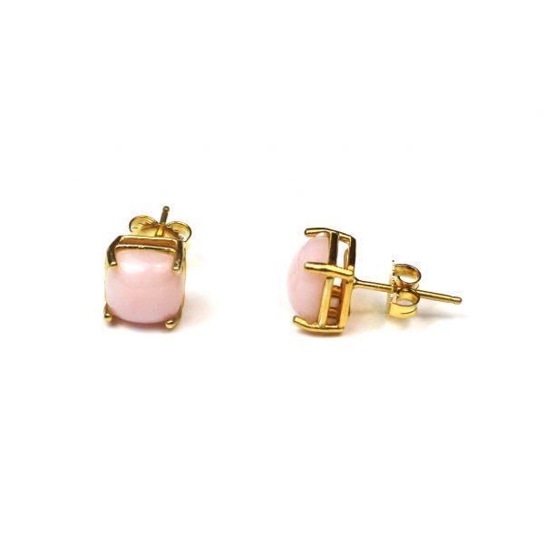 Pink Cushion Cut Serena Stud Earrings-0