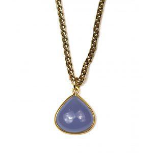 Large Blue Teardrop Necklace-0