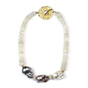 Large Pearl Trio Necklace-0