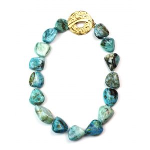 Chunky Opal Nugget Necklace-0