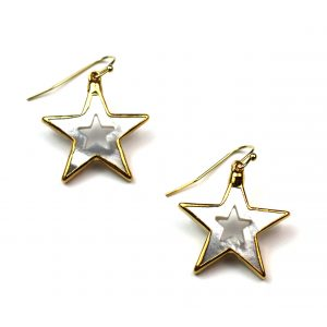 Small Star Mother of Pearl Earrings-0