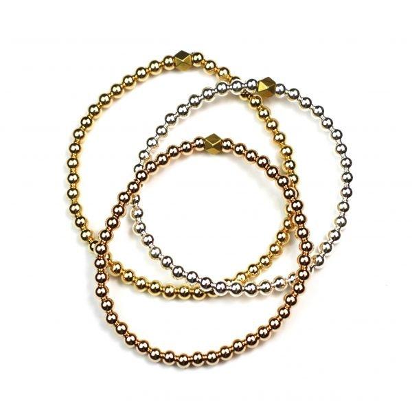 4MM Trio Ball Stretch Bracelets-0