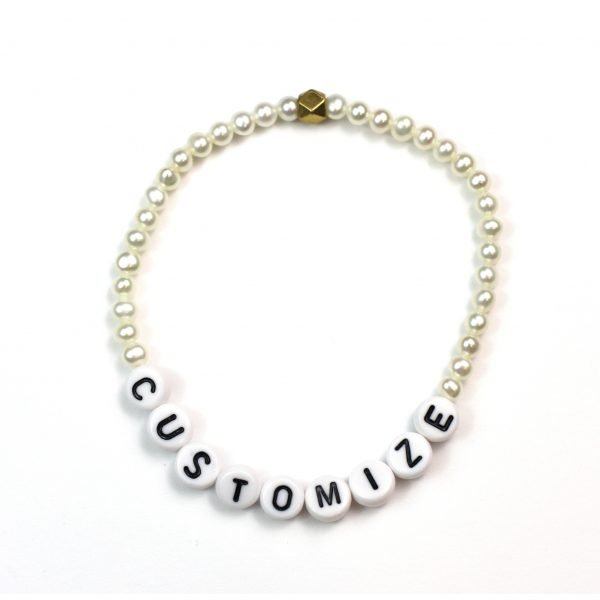 Pearl Name Bracelet -0