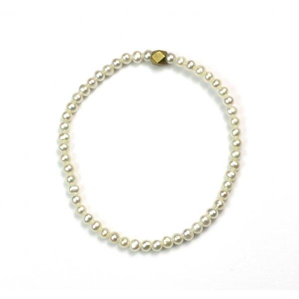 4MM Pearl Stretch Bracelet-0