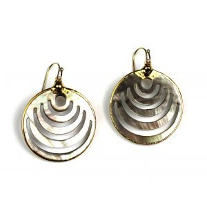 Gold Mini Wifi Alabone Earrings-0