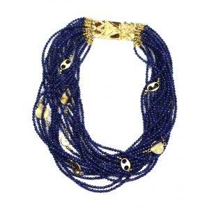 Lapis Lazuli Statement Necklace-0