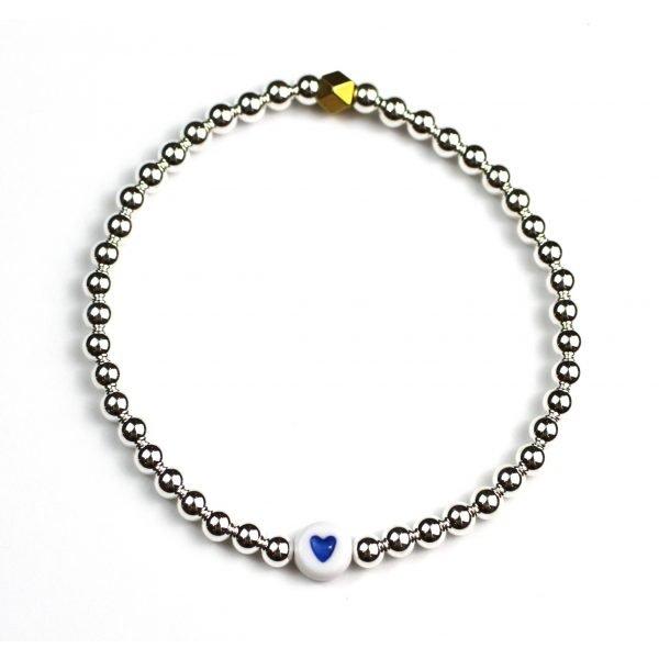 Silver / Blue