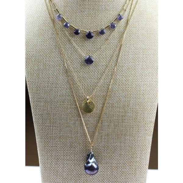 Adjustable Baroque Pearl Necklace-4604