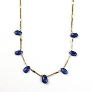 Blue Kyanite Brio Chain Necklace-0