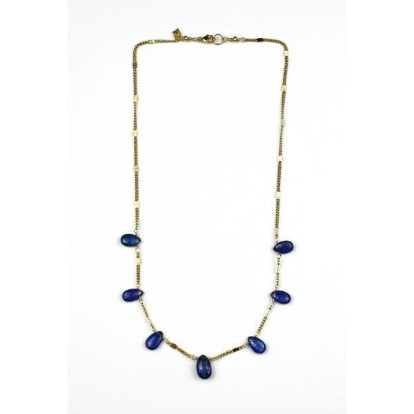 Blue Kyanite Brio Chain Necklace-4603