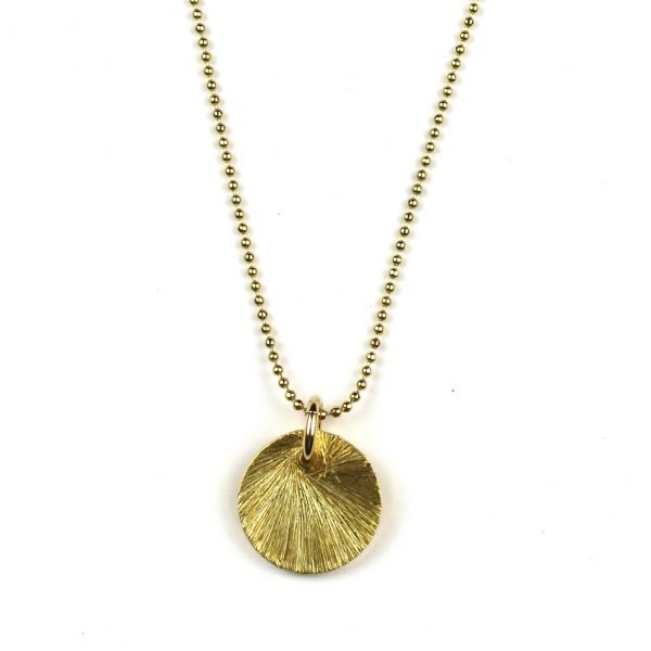 """21"""" Brushed Disc Chain Necklace-0"""