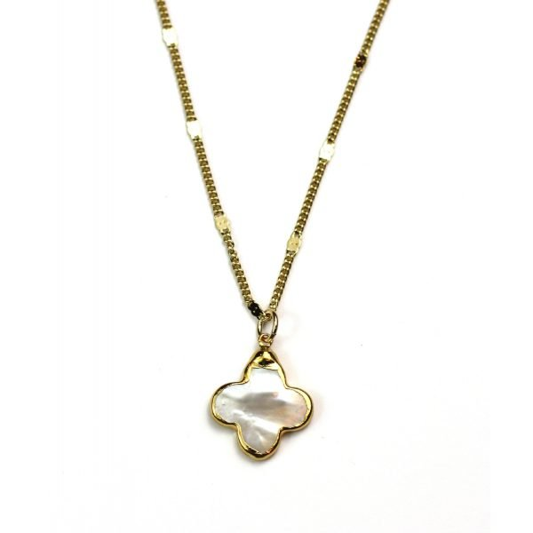 Clover Mother of Pearl Necklace-0