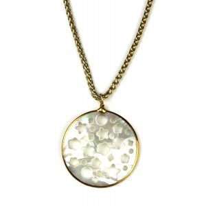 Large Star Mother of Pearl Pendant-0