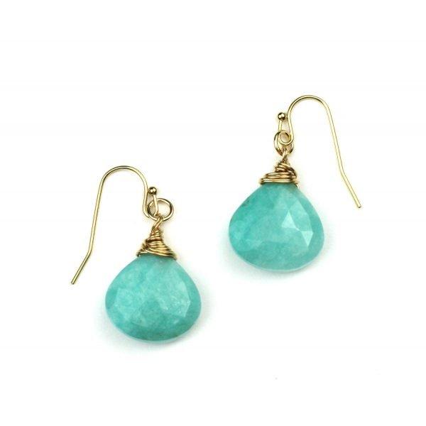 Peruvian Opal Briolette Earrings-0