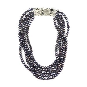 Peacock Statement Pearl Necklace-0